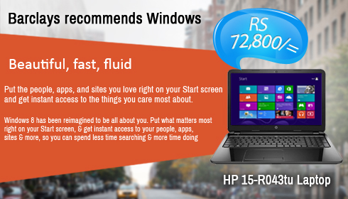 Barclays recommend Windows